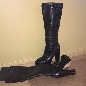 Coach woman's black platform boots size 10